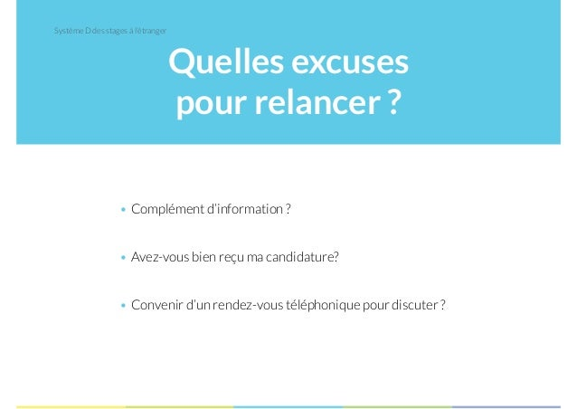 exemple relance candidature