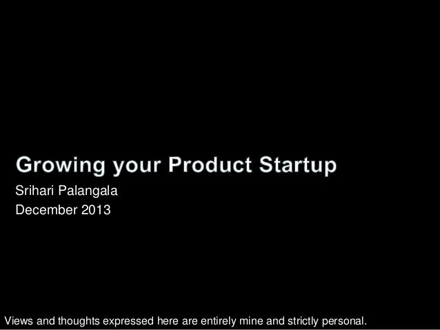 Growing Your Product Startup Business