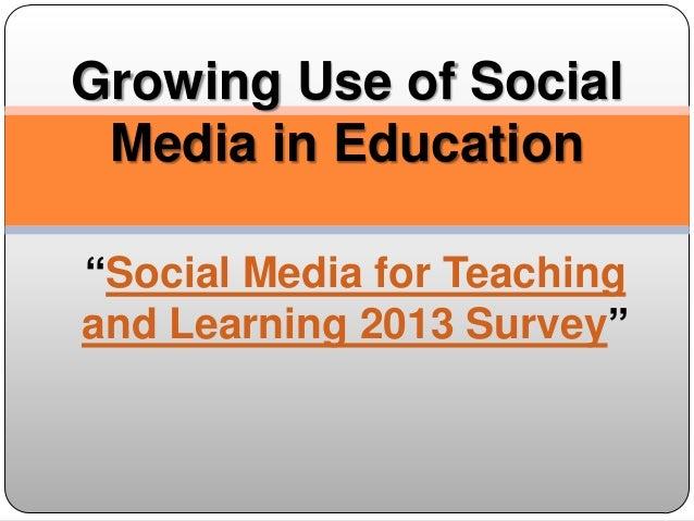 Growing use of social media in education