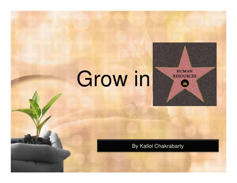 Grow in HR Career by Kallol