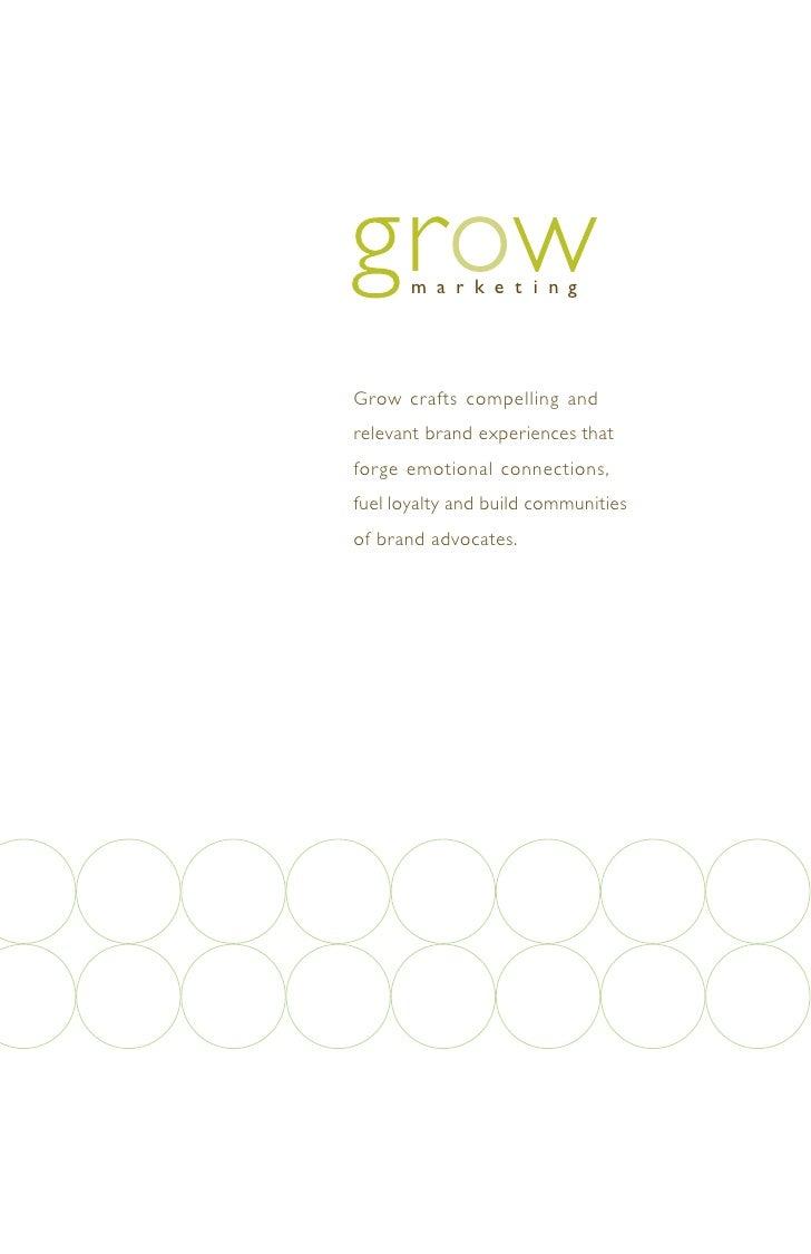 Grow Marketing Capabilities