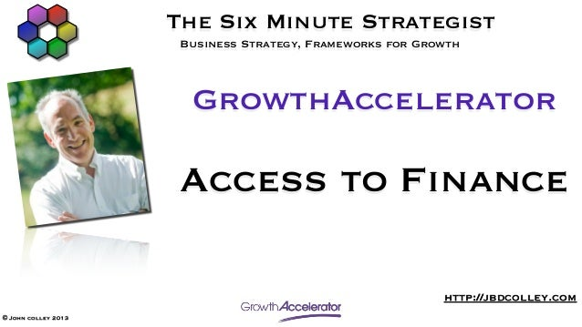 GrowthAccelerator Access to Finance