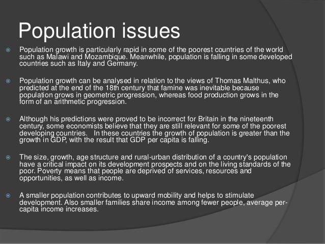 some effects of rapid population growth Impacts of population growth, economic development, and technical change on global pressure by population growth the effect of population growth (p.