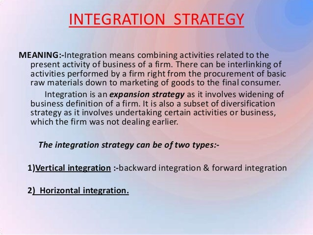 Horizontal diversification strategy meaning
