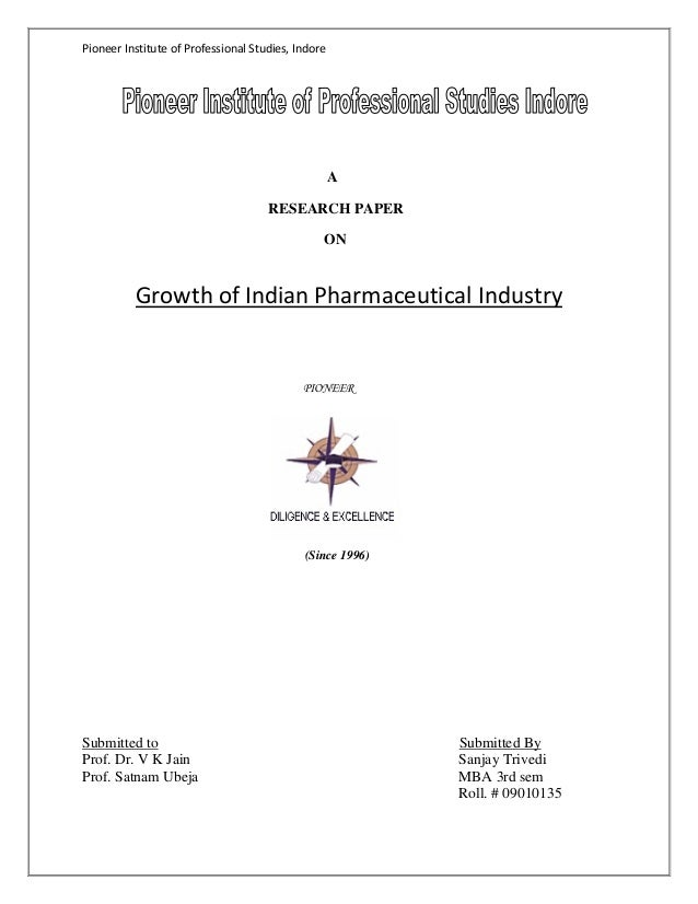 Growth of Indian pharmaceutical industry
