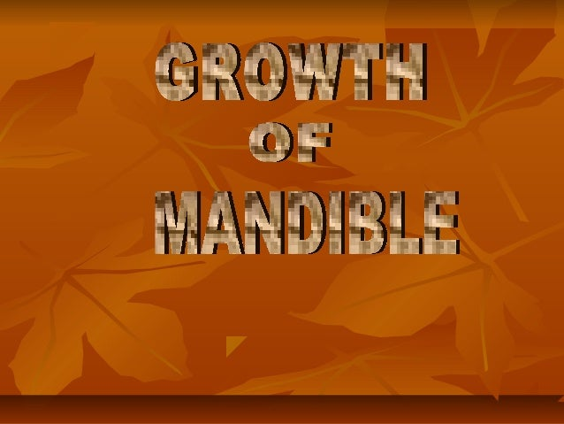 Growth of mandible