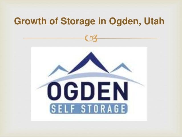Growth of Storage in Ogden, Utah  