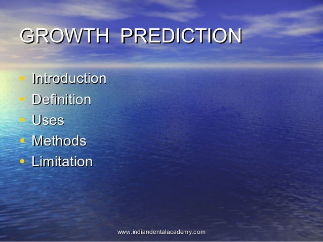Growth  prediction   /fixed orthodontic courses
