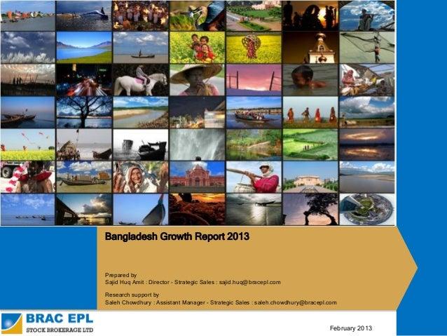 Growth Report Bangladesh - February 2013