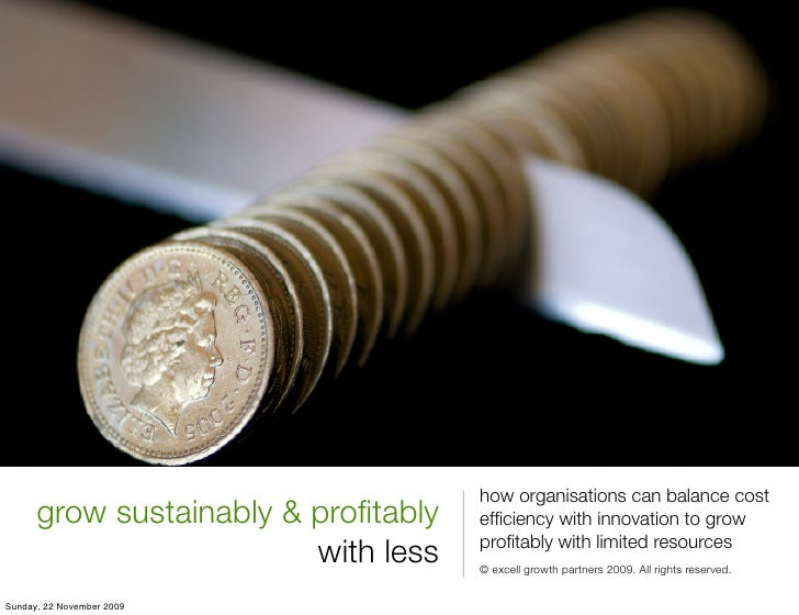 how organisations can balance cost       grow sustainably & profitably   efficiency with innovation to grow                 ...