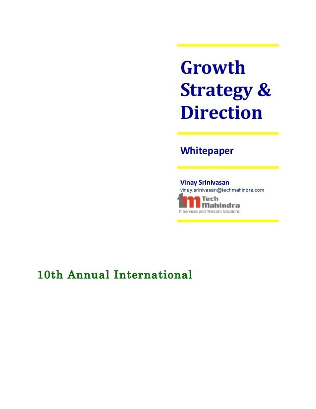 Growth                       Strategy &                       Direction                       Whitepaper                  ...