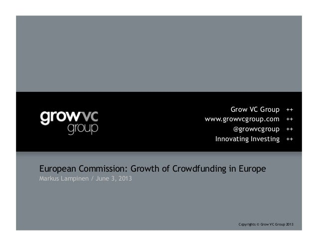Grow VC Group European Commission: Growth of Crowdfunding in the EU