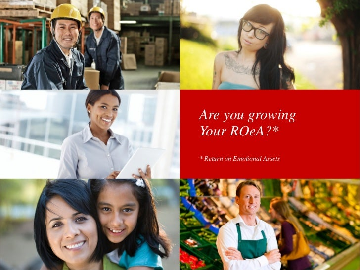 Are you growingYour ROeA?** Return on Emotional Assets
