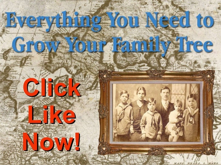 Grow Your Family Tree - Welcome