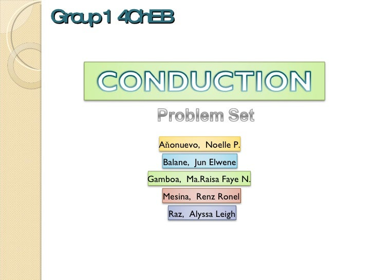 Group 1 4ChEB Gamboa,  Ma.Raisa Faye N. Aňonuevo,  Noelle P. Balane,  Jun Elwene Raz,  Alyssa Leigh Mesina,  Renz Ronel
