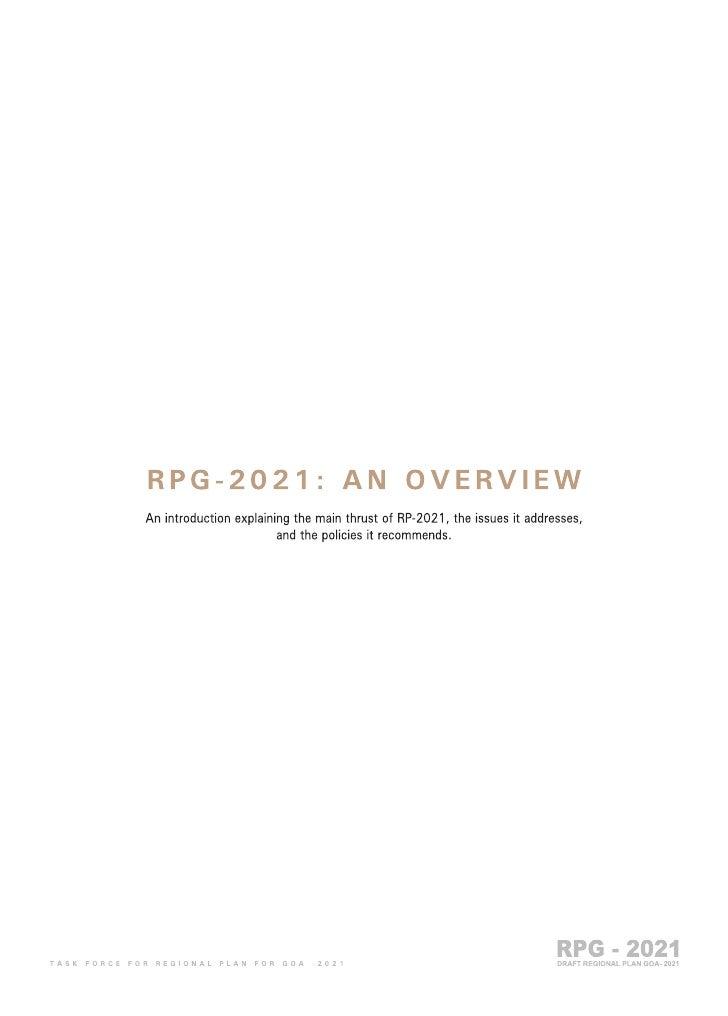 Goa Regional Plan 2021 part 1