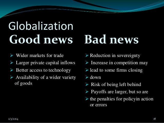 the impact of globalization in our lives Then, in paragraph two, the impact of globalization on education and health systems in both sides will be shown in the paragraph three, the positives and negatives of globalization on culture.