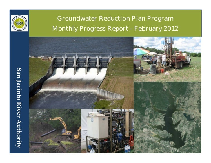 Groundwater Reduction Plan Program                                   Monthly Progress...