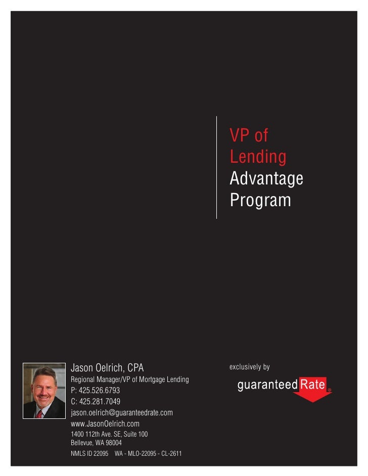Become a VP of Mortgage Lending at Guaranteed Rate