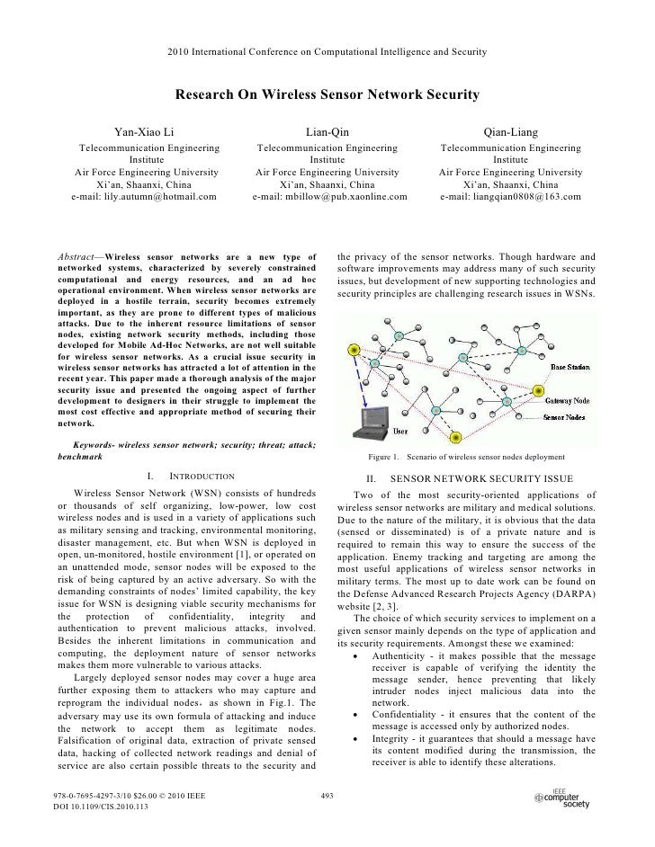 2010 International Conference on Computational Intelligence and Security                               Research On Wireles...