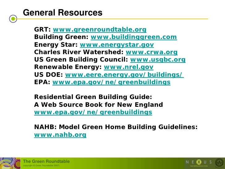 Residential Green Building