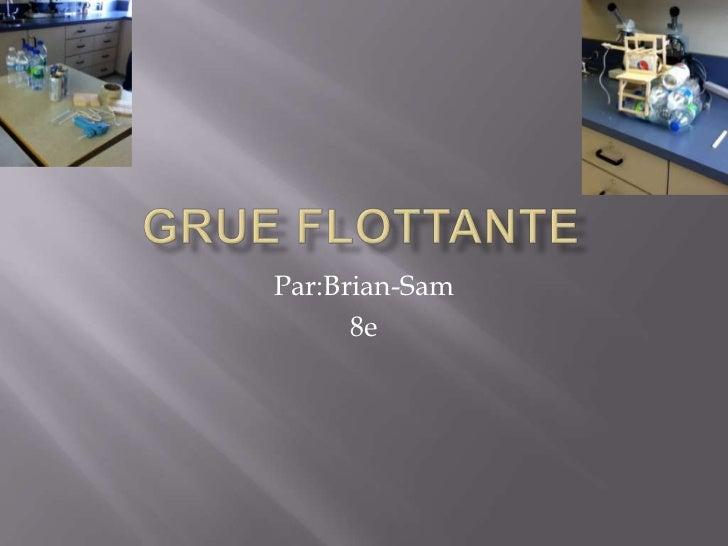 Grue flottante<br />Par:Brian-Sam<br />8e<br />