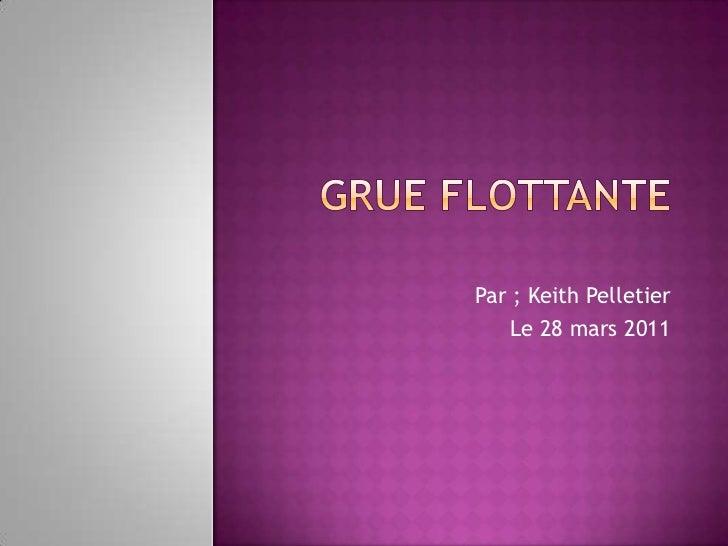 Grue flottante<br />Par ; Keith Pelletier<br />Le 28 mars 2011  <br />
