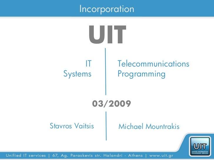 UIT Telecoms Presentation