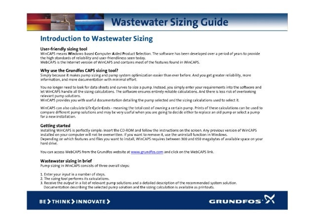 Grundfos Guide Wastewater Sizing