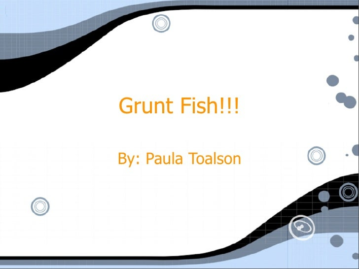 Grunt Fish!!!  By: Paula Toalson