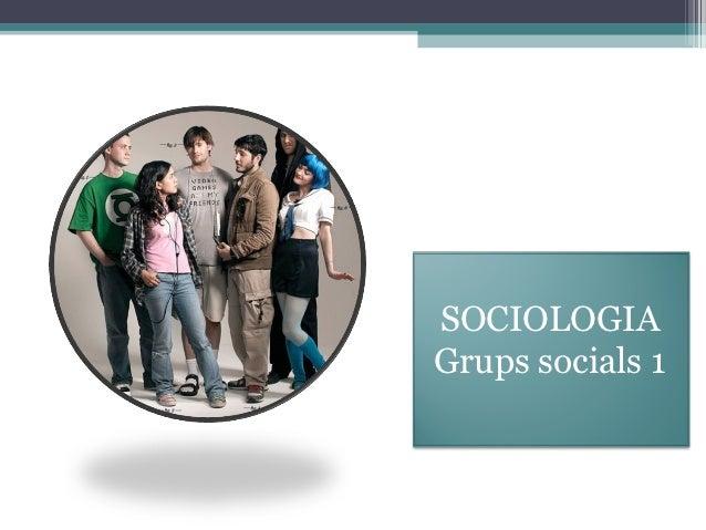 SOCIOLOGIAGrups socials 1