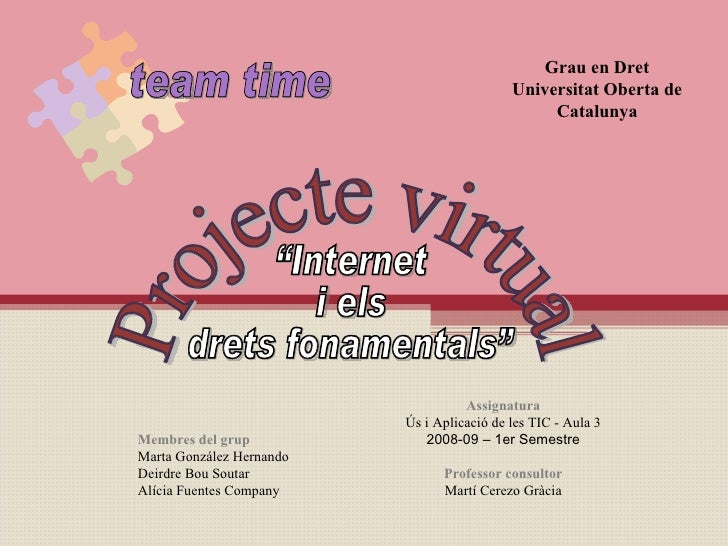 Internet i els drets fonamentals