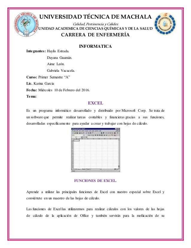 UNIVERSIDAD TÉCNICA DE MACHALA Calidad, Pertinencia yCalidez UNIDAD ACADEMICA DE CIENCIAS QUÍMICAS Y DE LA SALUD CARRERA D...