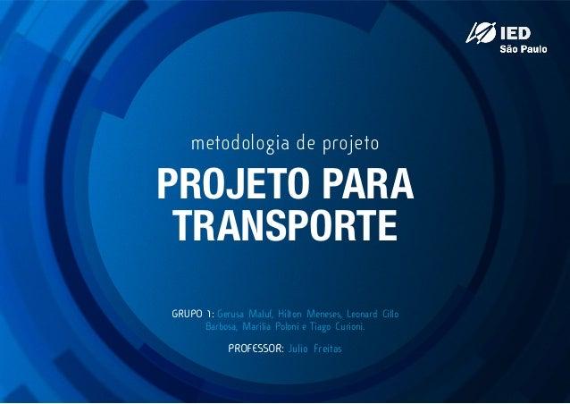 Projeto de HidroTrem como Transporte Público