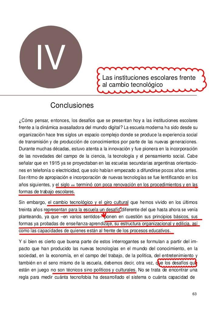www.fundacionsantillana.com       IV                                Las instituciones escolares frente                    ...