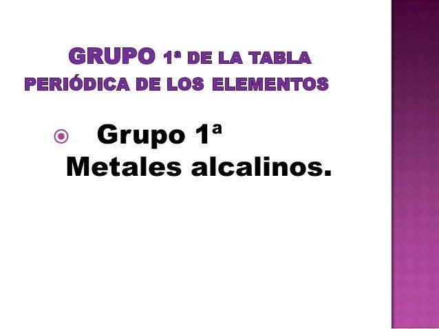 Grupo 1 170 de la tabla peri 243 dica de los elementos