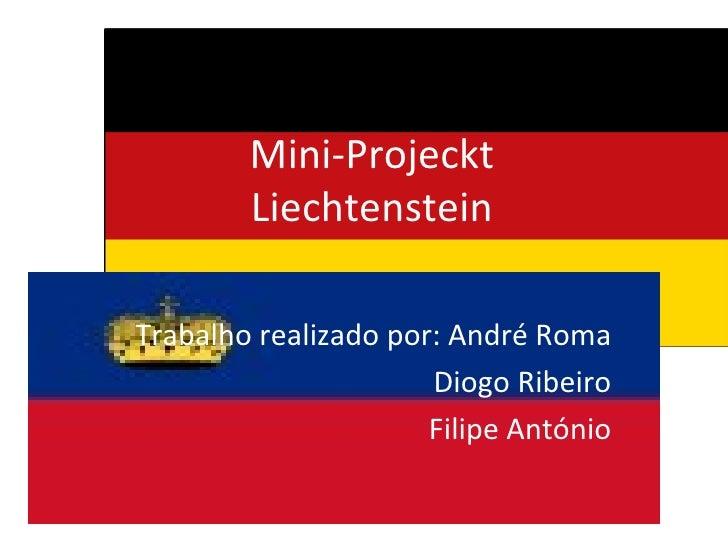 Mini-Projeckt Liechtenstein Trabalho realizado por: André Roma Diogo Ribeiro Filipe António