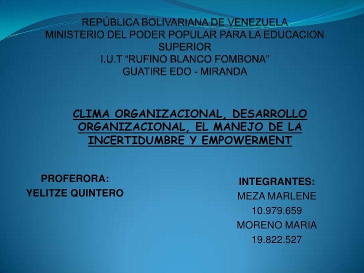 "REPÚBLICA BOLIVARIANA DE VENEZUELAMINISTERIO DEL PODER POPULAR PARA LA EDUCACION SUPERIORI.U.T ""RUFINO BLANCO FOMBONA""GUAT..."