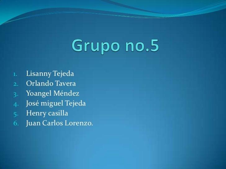 1.   Lisanny Tejeda2.   Orlando Tavera3.   Yoangel Méndez4.   José miguel Tejeda5.   Henry casilla6.   Juan Carlos Lorenzo.