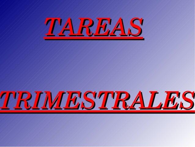 TAREASTRIMESTRALES