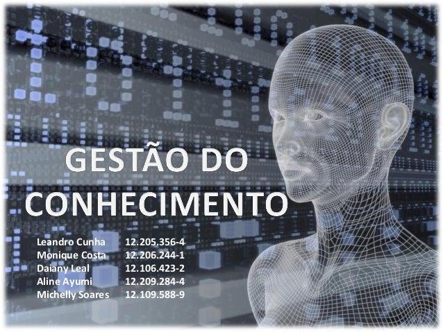 Leandro Cunha     12.205.356-4Monique Costa     12.206.244-1Daiany Leal       12.106.423-2Aline Ayumi       12.209.284-4Mi...