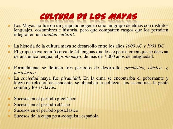 Cultura Los Cultura de Los Mayas Los