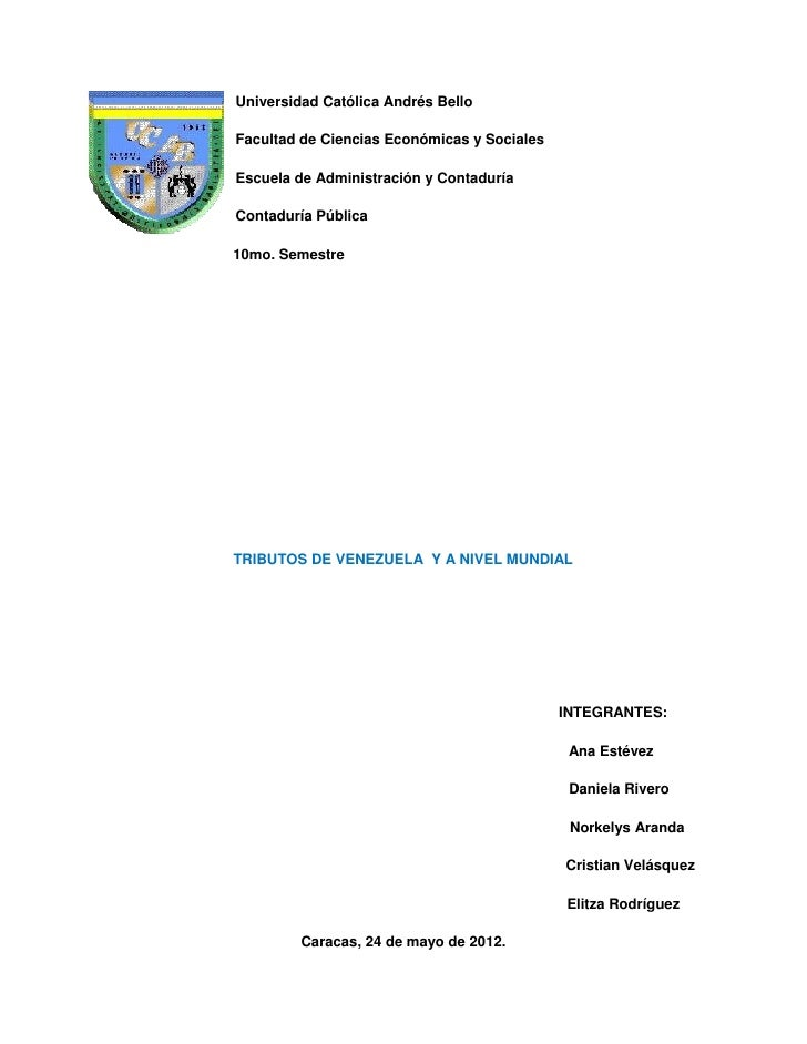 Universidad Católica Andrés BelloFacultad de Ciencias Económicas y SocialesEscuela de Administración y ContaduríaContadurí...