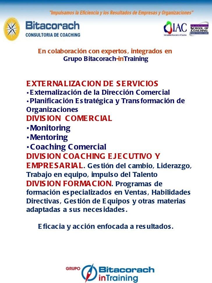 <ul><li>EXTERNALIZACION DE SERVICIOS </li></ul><ul><li>Externalización de la Dirección Comercial </li></ul><ul><li>Planifi...