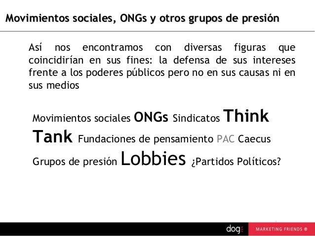 Grupo de presion i lobby - Grupo de presion ...