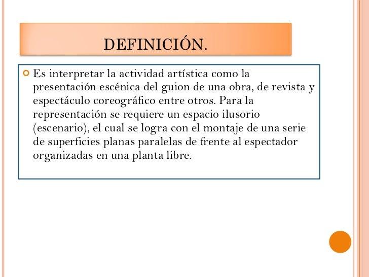Teatro moderno grupo n 2 for Definicion de espectaculo