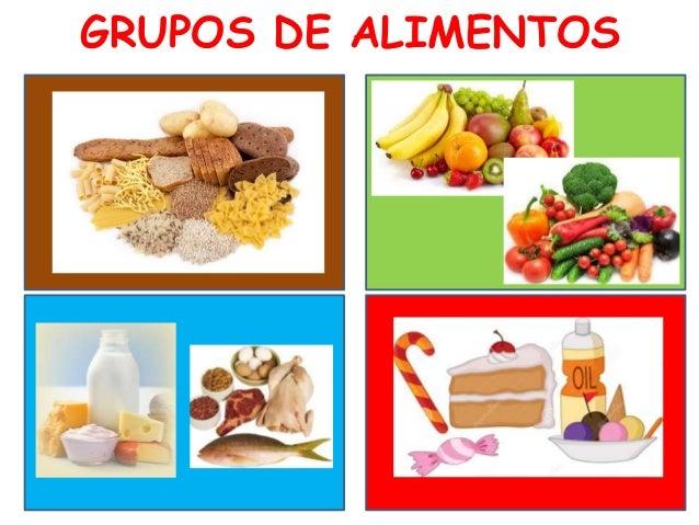 Grupos de alimentos . Español