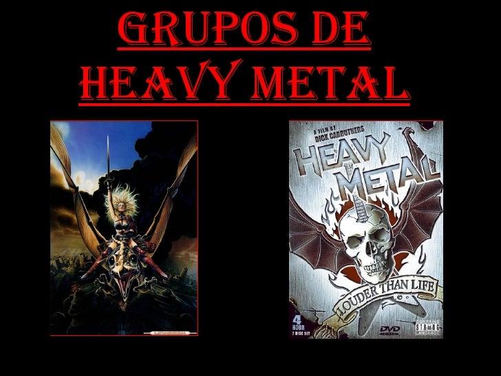 grupos de metal: