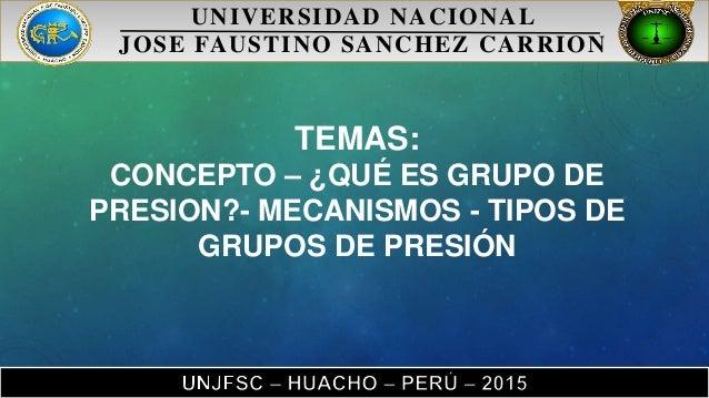 Grupos de presion y lobbies - Grupo de presion ...