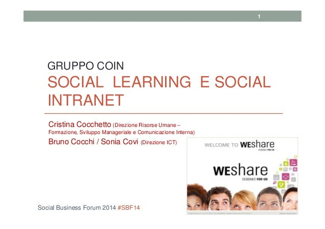 Bruno Cocchi, Cristina Cocchetto - Social Learning & Social Intranet: Coin Group
